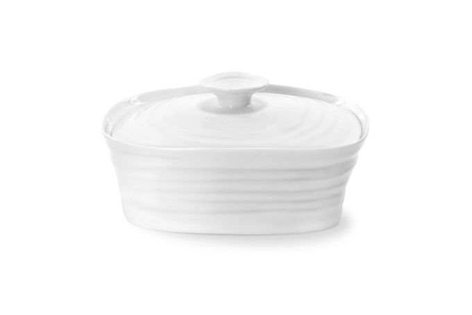 Sophie Conran for Portmeirion White Butter Dish + Lid Gift Boxed 15.5 x 12cm