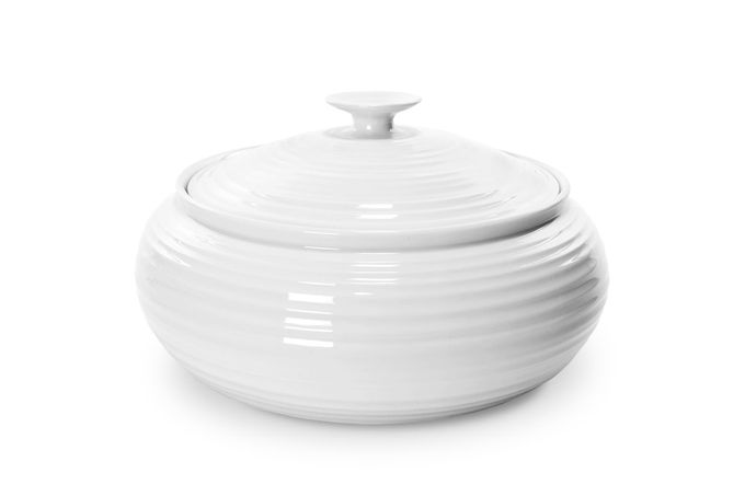 Sophie Conran for Portmeirion White Vegetable Tureen with Lid Covered Vegetable / Casserole 3.4l