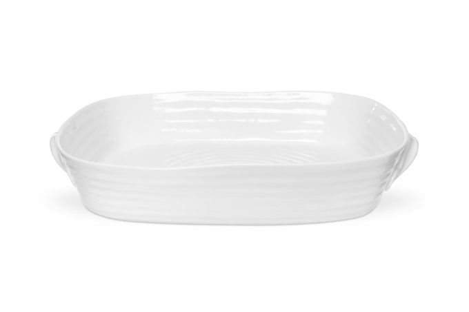 Sophie Conran for Portmeirion White Roaster Handled Roasting Dish - Gift Boxed 36 x 28cm