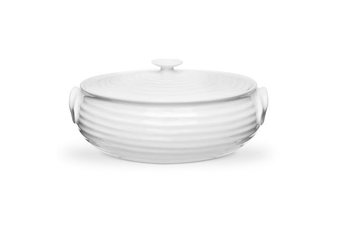 Sophie Conran for Portmeirion White Casserole Dish + Lid Oval & handled. Gift Boxed 1.75l