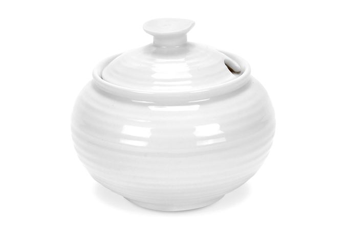 Sophie Conran for Portmeirion White Sugar Bowl - Lidded (Tea) Gift Boxed 0.31l