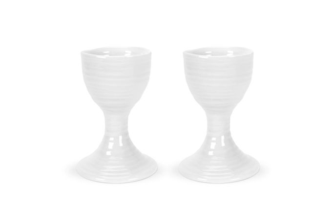 Sophie Conran for Portmeirion White Egg Cup Gift Boxed Set of 2 9cm