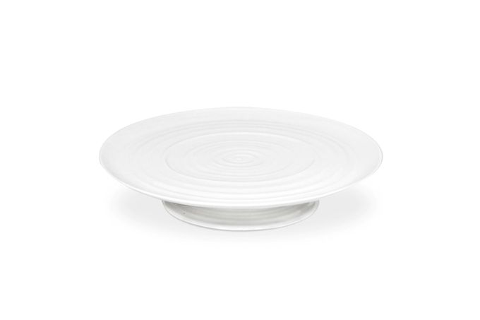 Sophie Conran for Portmeirion White Cake Plate Gift Boxed, Footed 32 x 6cm
