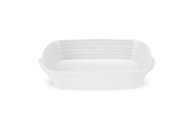 Sophie Conran for Portmeirion White Roaster Medium Handled Roasting Dish 32.8 x 24cm