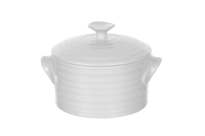 Sophie Conran for Portmeirion White Lidded Pot Round Lidded Pot 0.19l