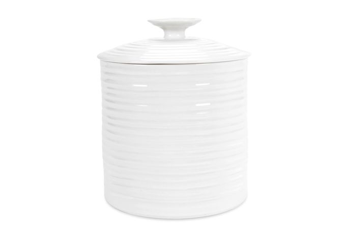 Sophie Conran for Portmeirion White Storage Jar + Lid Gift Boxed, Large 16 x 16.5cm