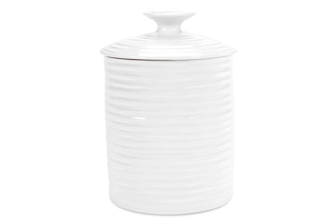 Sophie Conran for Portmeirion White Storage Jar + Lid Gift Boxed, Medium