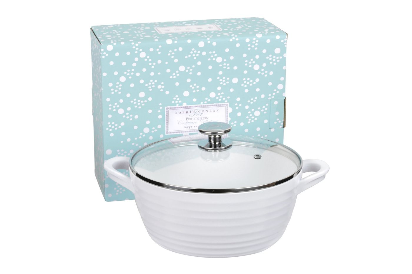 Sophie Conran for Portmeirion Cookware Casserole Dish + Lid Large - White. Metal body with ceramic coating. thumb 2