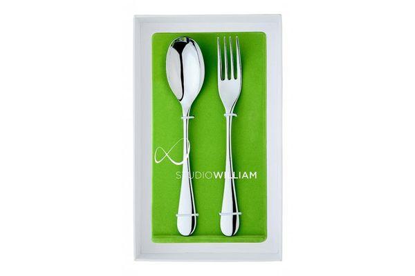 Studio William Mulberry 2 Piece Serving Fork & Spoon Set