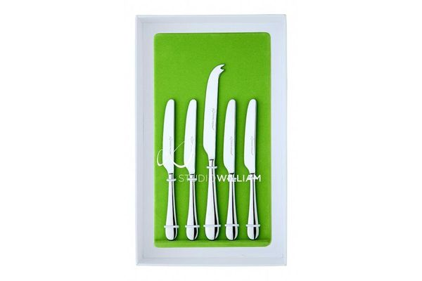 Studio William Mulberry 5 Piece Cheese & Butter Knife Set