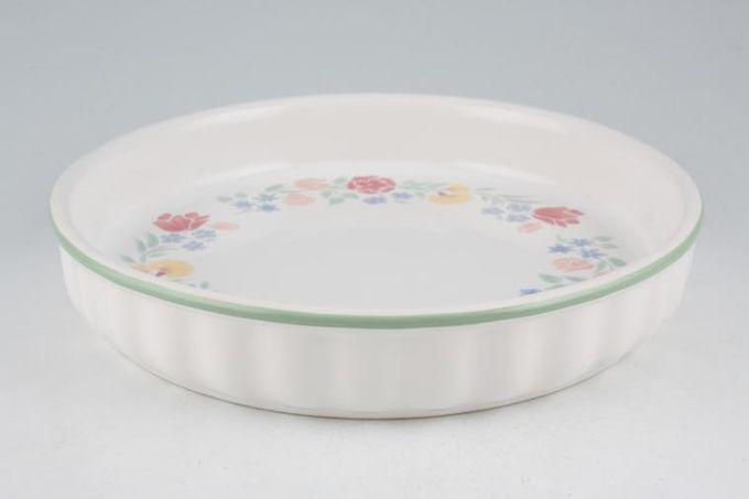 """BHS Floral Garden Flan Dish 9 3/8"""""""