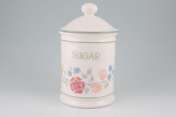 """BHS Floral Garden Storage Jar + Lid Sugar 6"""""""