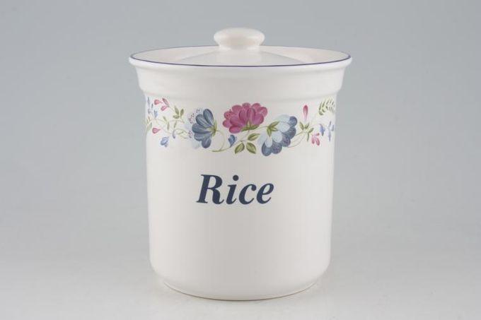 """BHS Priory Storage Jar + Lid Rice 5 1/4"""""""