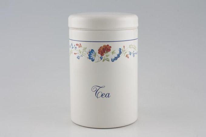 """BHS Priory Storage Jar + Lid Tea, Metal 6 3/4"""""""