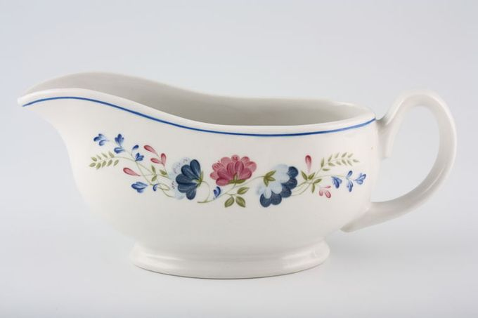BHS Priory Sauce Boat Footed, Round handle, Shape 2