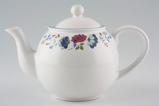 BHS Priory Teapot With white lid 1pt