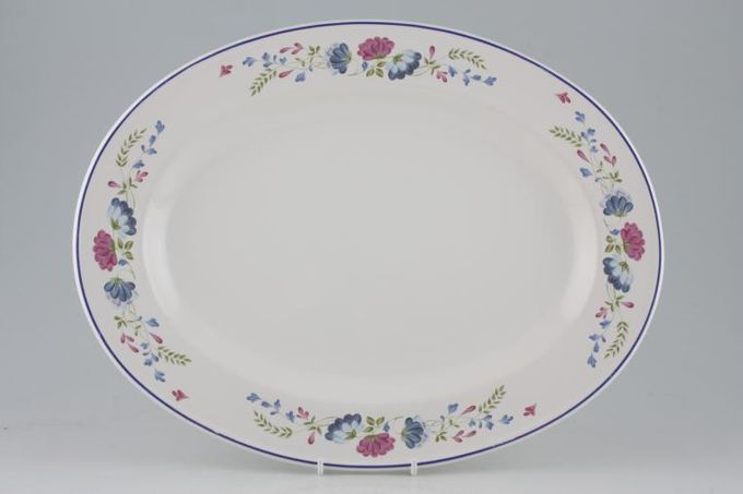 """BHS Priory Oval Plate / Platter 14 1/4"""""""