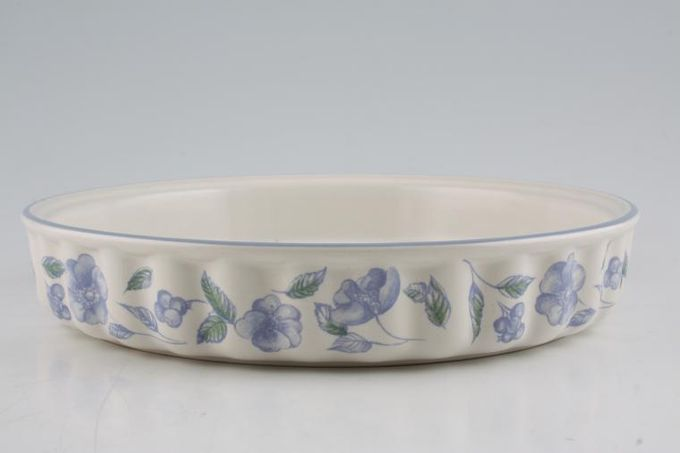 "BHS Bristol Blue Flan Dish 9 3/4"""