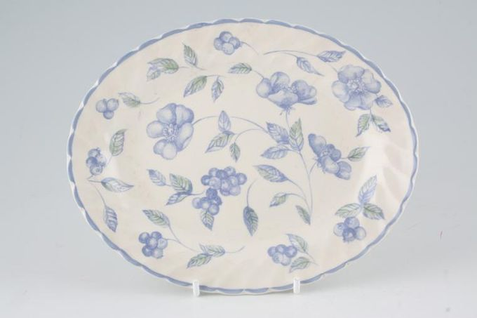 BHS Bristol Blue Sauce Boat Stand or Pickle Dish