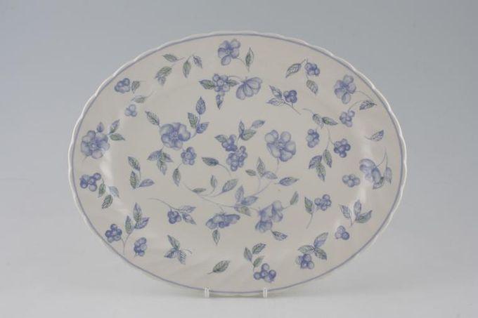 "BHS Bristol Blue Oval Plate / Platter 12 1/4"""