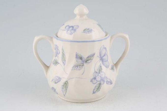 BHS Bristol Blue Sugar Bowl - Lidded (Coffee) 2 handles