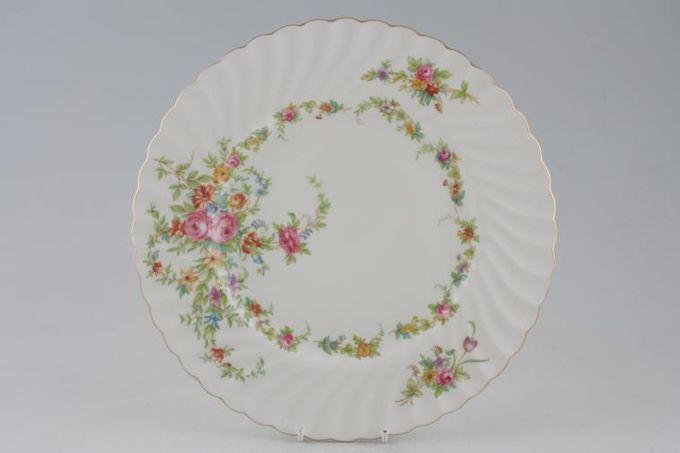 """Minton Lorraine Dinner Plate White Border 10 1/2"""""""