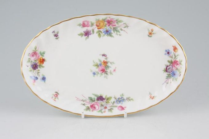 """Minton Marlow - Fluted and Straight Edge Tray (Giftware) Shallow Oval Dish/dressing table tray 8 1/2"""""""