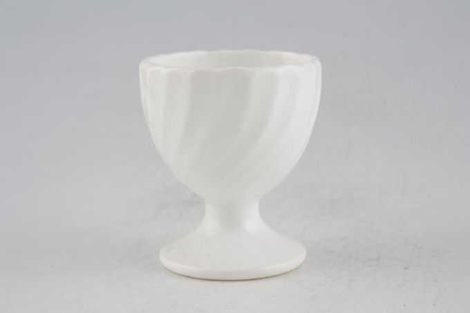 Minton White Fife Egg Cup Footed - No Backstamp*