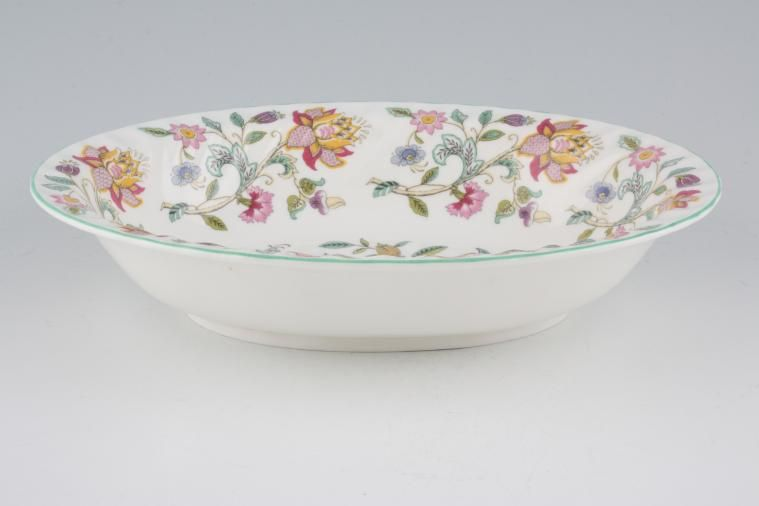 Minton - Haddon Hall - Green Edge - Vegetable Dish (Open) - oval