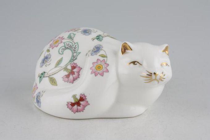 Minton Haddon Hall - Green Edge Animal Figurine Cat