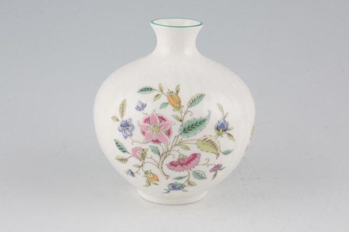 "Minton Haddon Hall - Green Edge Bud Vase Rounded 4 1/4"""