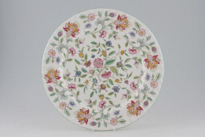"""Minton Haddon Hall - Green Edge Round Platter 12 5/8"""""""
