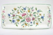"Minton - Haddon Hall - Green Edge - Sandwich Tray - 11 1/4 x 5 1/2"" - Rectangular"