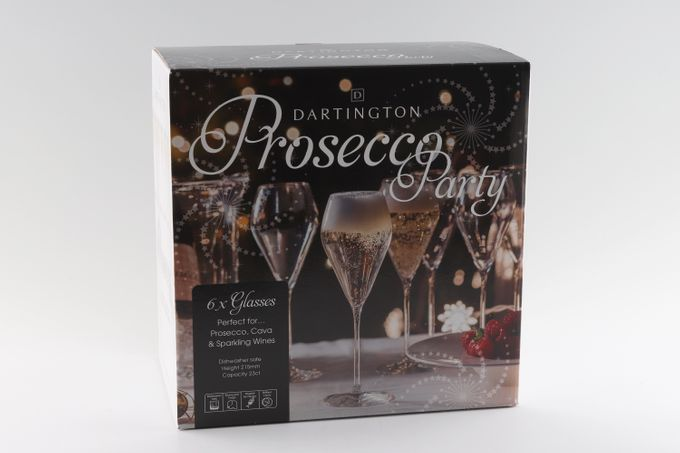 Dartington Crystal Party Packs Prosecco Glasses Set of 6