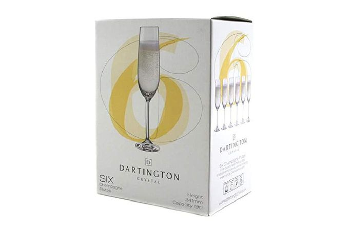 Dartington Crystal Six Flute - Set of 6