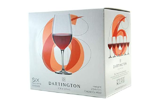 Dartington Crystal Six Set of 6 Red Wine Glasses 23.4cm