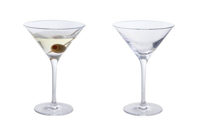 Dartington Crystal Wine & Bar Pair of Martini Glasses 240ml