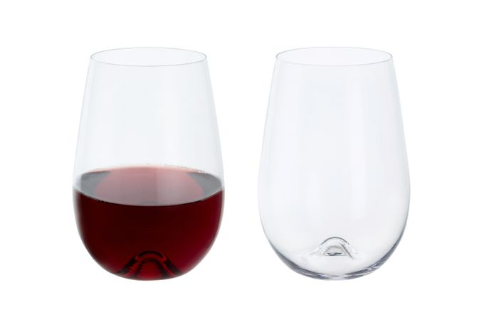 Dartington Crystal Wine & Bar Pair of Red Wine Glasses Stemless 700ml