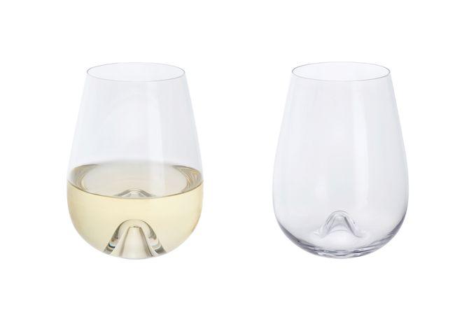 Dartington Crystal Wine & Bar Pair of White Wine Glasses Stemless 475ml