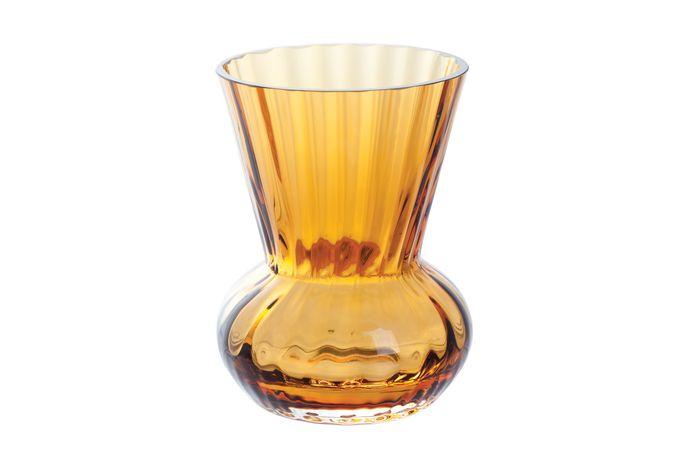 Dartington Crystal Mini Gems Vase Funnel Amber 9cm