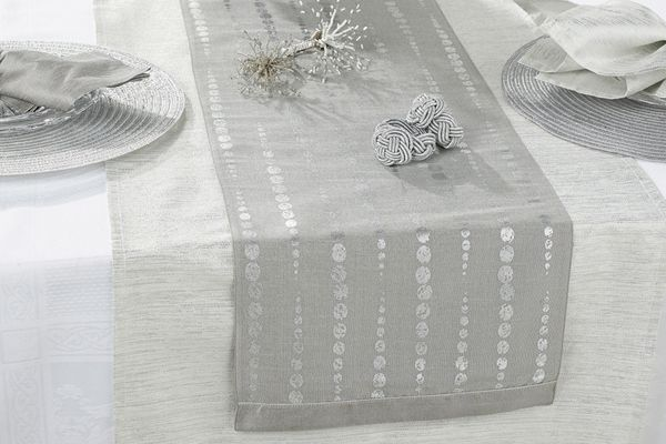 Walton & Co Christmas Table Runners Table Runner Icicle Silver Runner 180 x 30cm
