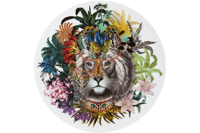 Christian Lacroix Love Who You Want Charger Jungle King - Gift Boxed 33.1cm
