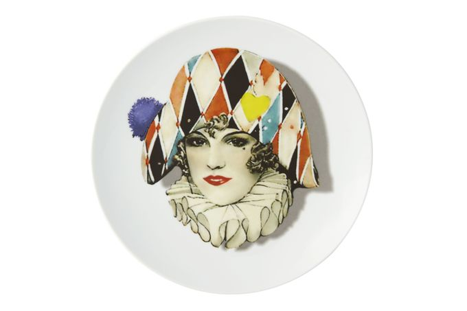 Christian Lacroix Love Who You Want Plate - Giftware Miss Harlequin - Gift Boxed 23cm