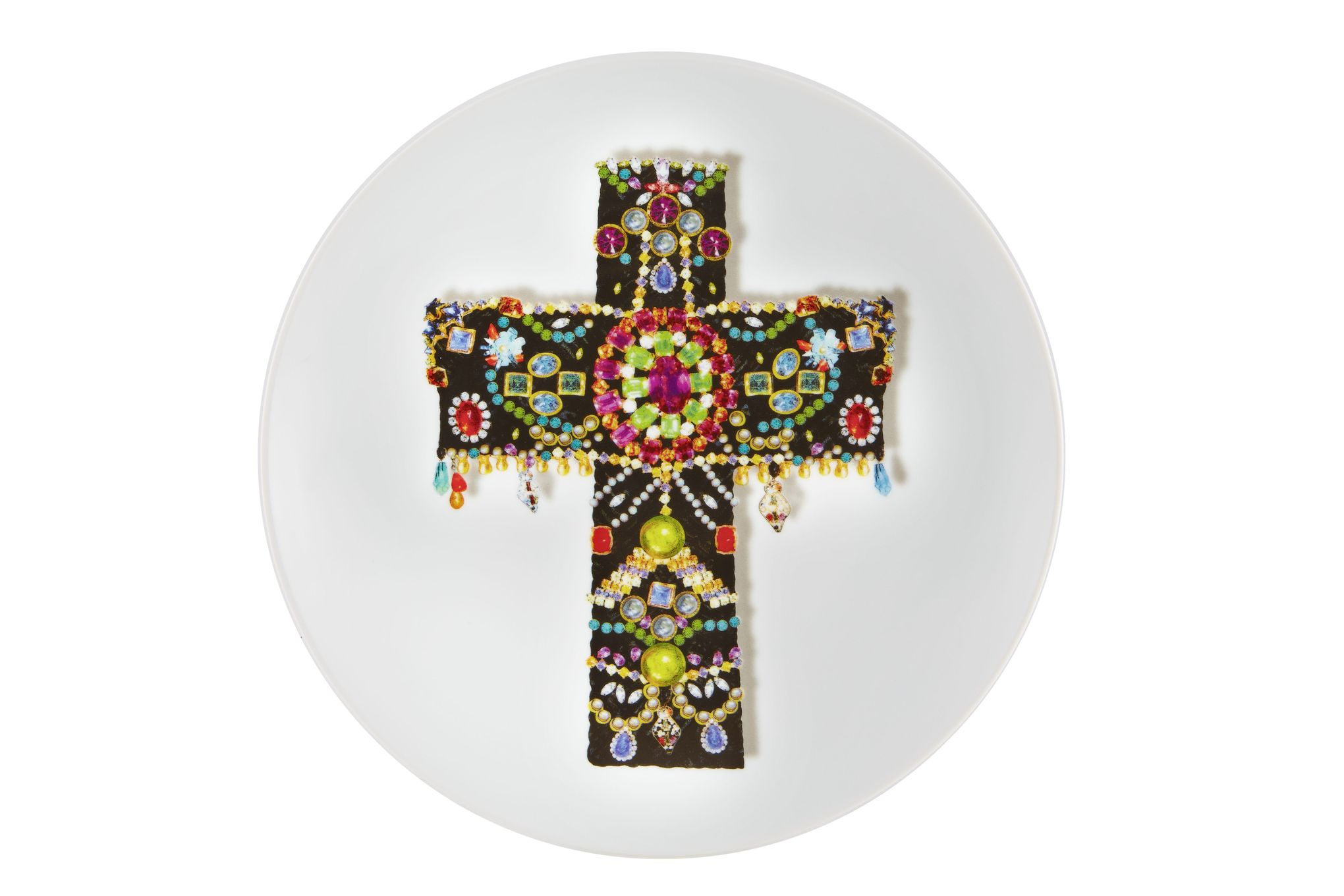 Christian Lacroix Love Who You Want Plate - Giftware Black Cross - Gift Boxed 23cm thumb 1