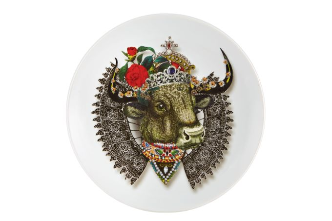 Christian Lacroix Love Who You Want Plate - Giftware Monseigneur Bull - Gift Boxed 23cm