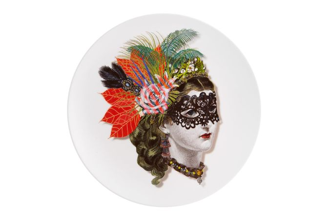 Christian Lacroix Love Who You Want Plate - Giftware Mamzelle Scarlet - Gift Boxed 23cm