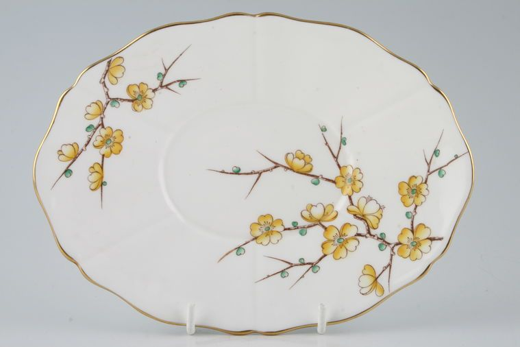 Adderley + Royal Adderley - Chinese Blossom - Yellow - Sauce Boat Stand