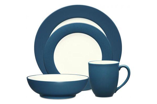 Noritake Colorwave Blue 4 Piece Set Rimmed