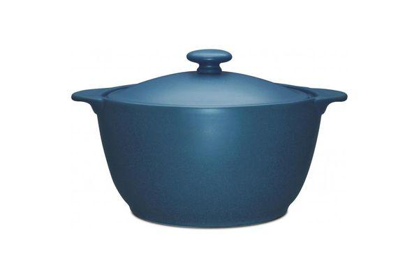 Noritake Colorwave Blue Casserole Dish + Lid