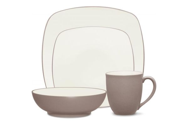 Noritake Colorwave Clay 4 Piece Set SQUARE